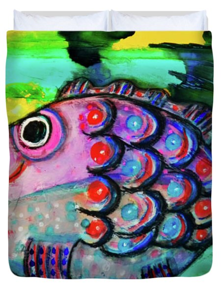 Oscar The Nosefish Duvet Cover