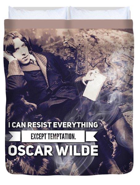 Oscar Wilde, Temptation Duvet Cover