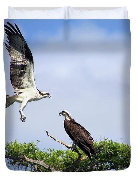 Ospreys At Blue Cypress Lake Duvet Cover