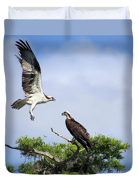 Ospreys At Blue Cypress Lake Duvet Cover