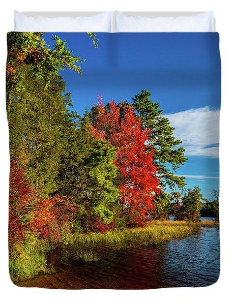 Oswego Lake Pinelands Duvet Cover
