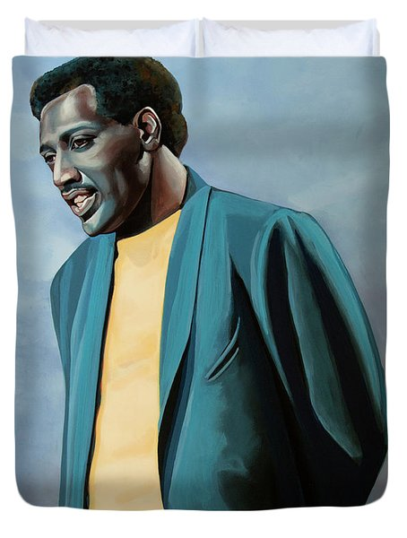 Otis Redding Painting Duvet Cover