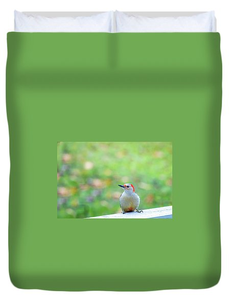 Duvet Cover featuring the photograph Our First Red-bellied by Onyonet  Photo Studios