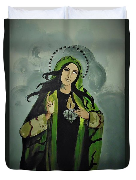 Our Lady Of Veteran Suicide Duvet Cover