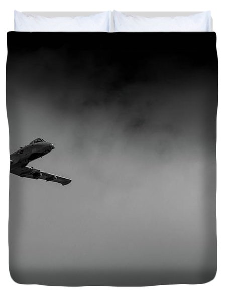 Out Of The Clouds - A-10c Thunderbolt Duvet Cover