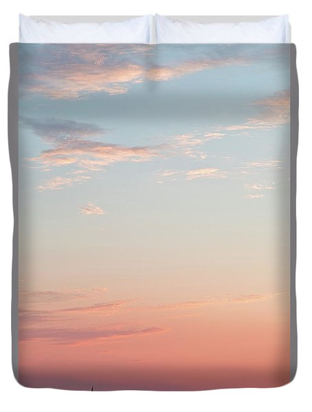 Duvet Cover featuring the photograph Outer Banks Sailboat Sunset by Nathan Bush