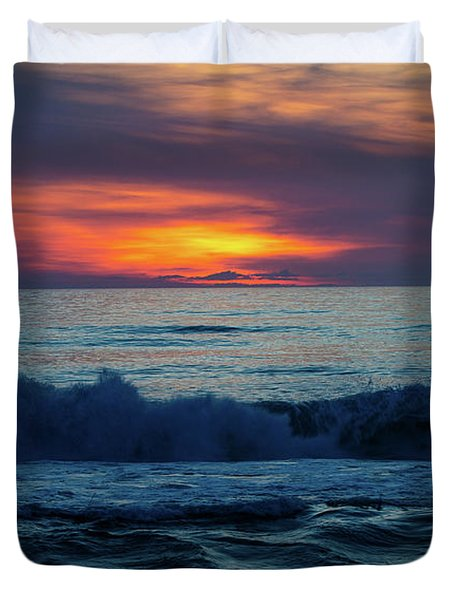 Outer Banks Sunrise Duvet Cover