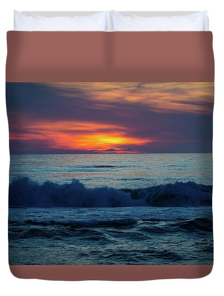 Duvet Cover featuring the photograph Outer Banks Sunrise by Lora J Wilson