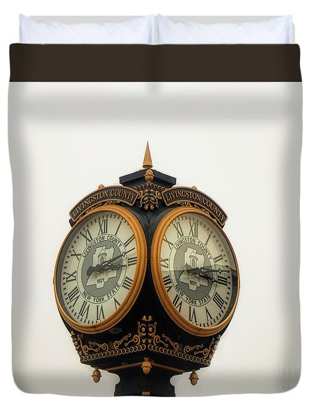 Outside Timepiece Duvet Cover