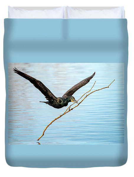 Over-achieving Cormorant Duvet Cover