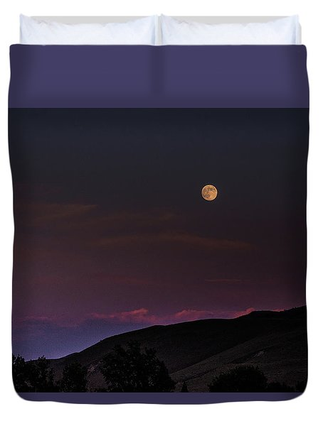 Duvet Cover featuring the photograph Over The Border by Alex Lapidus