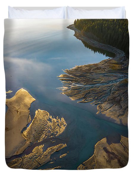 Over The Northwest Two Rivers Gather Duvet Cover