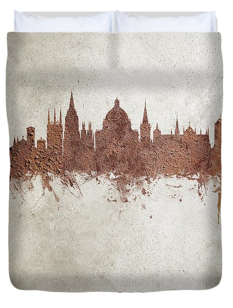 Oxford England Rust Skyline Duvet Cover