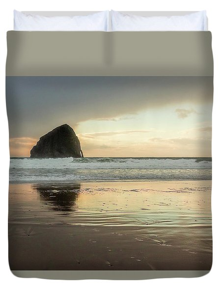 Pacific City Sea Stack Duvet Cover