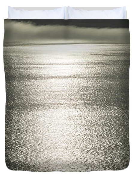 Pacific Ocean Fog Panorama Duvet Cover