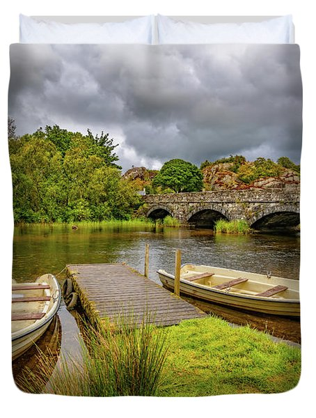 Padarn Lake Bridge Llanberis Duvet Cover
