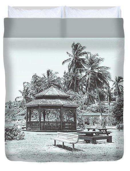 Pagoda On The Sea Duvet Cover
