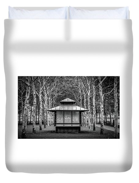 Duvet Cover featuring the photograph Pagoda by Steve Stanger