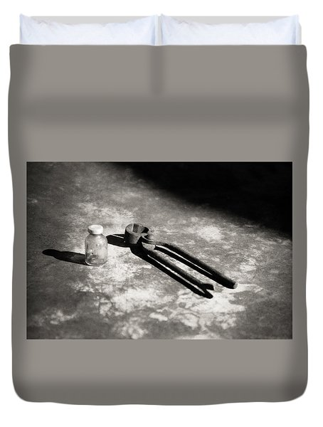 Duvet Cover featuring the photograph Painless Dentistry by Carl Young