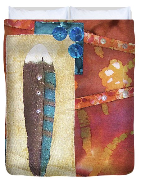 Painted Feather Duvet Cover