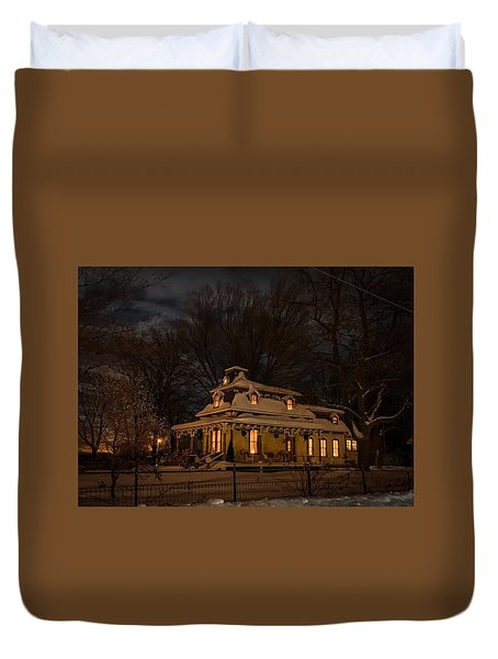 Painted Lady In Winter Duvet Cover