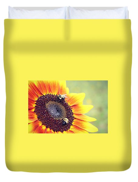 Duvet Cover featuring the photograph Painted Sun by Candice Trimble