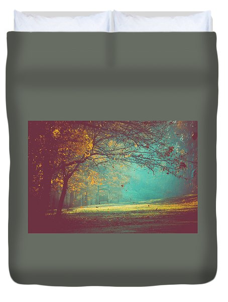Painted Sunrise Duvet Cover