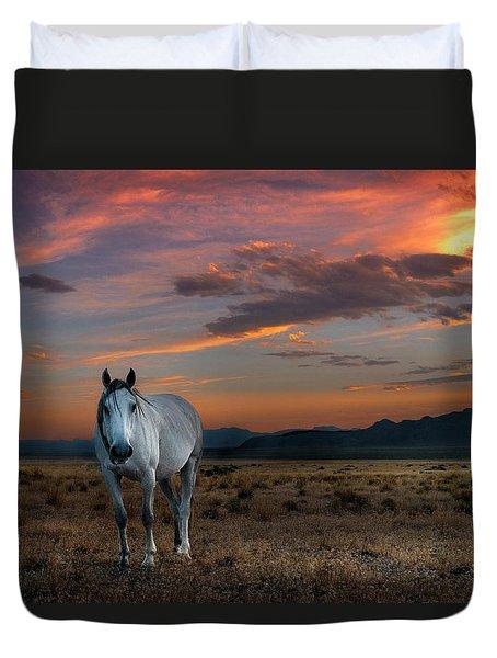 Pale Horse Duvet Cover