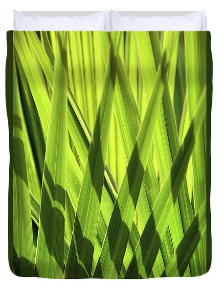 Duvet Cover featuring the photograph Palm Portrait IIi by Leda Robertson