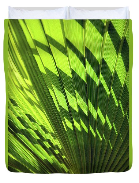 Duvet Cover featuring the photograph Palm Portrait Iv by Leda Robertson