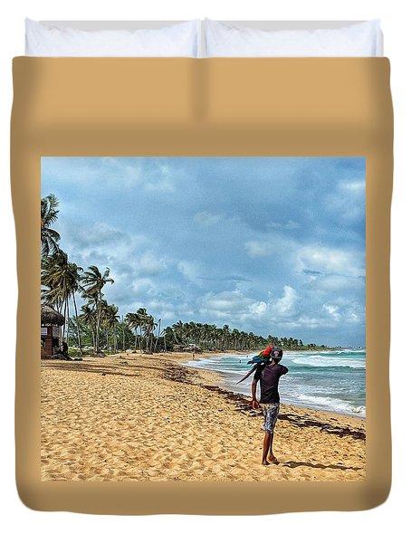 Palm Tree Paradise Duvet Cover