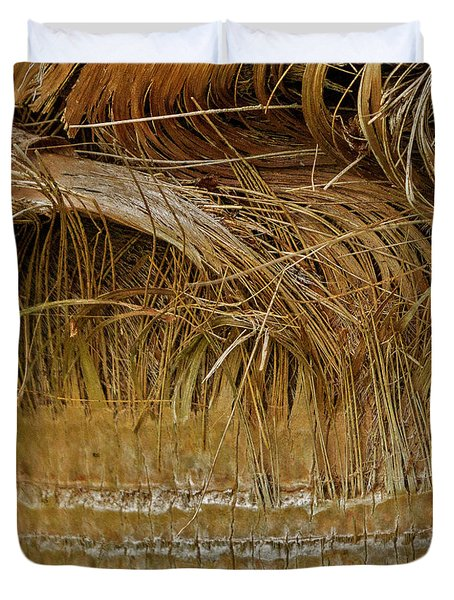 Palm Tree Straw 2 Duvet Cover