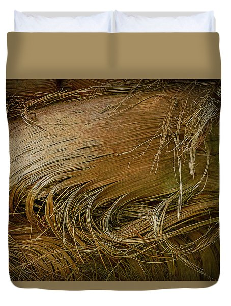 Palm Tree Straw Duvet Cover