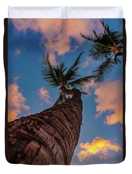 Palm Upward Duvet Cover