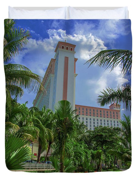 Palms At The Riu Cancun Duvet Cover