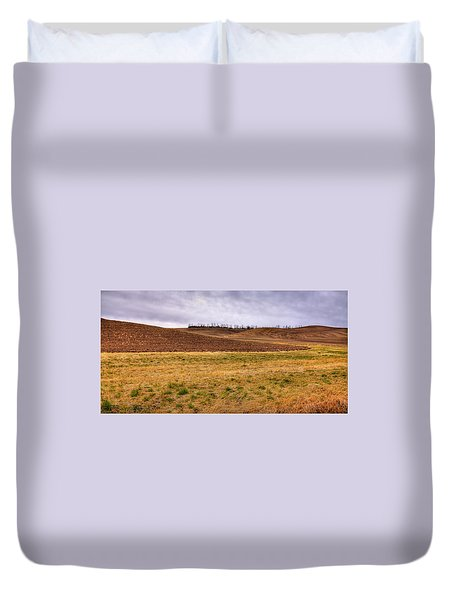 Duvet Cover featuring the photograph Palouse Farmland by David Patterson