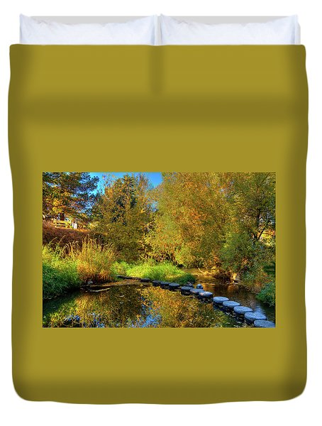 Duvet Cover featuring the photograph Palouse River Reflections by David Patterson