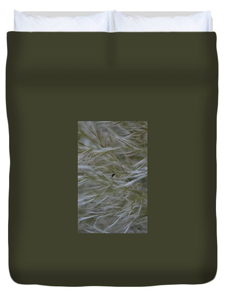 Pampas Grass And Insect Duvet Cover