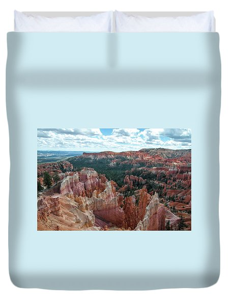 Panorama  From The Rim, Bryce Canyon  Duvet Cover