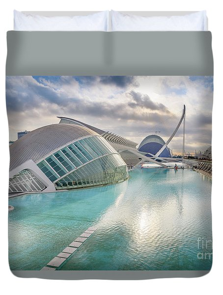 Panoramic Cinema In The City Of Sciences Of Valencia, Spain, Vis Duvet Cover