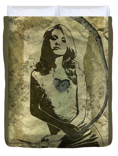 Paper Doll Duvet Cover