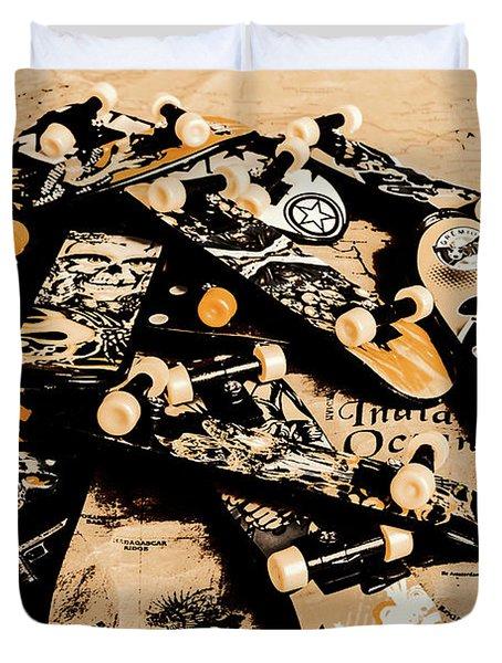 Paper Skate Duvet Cover
