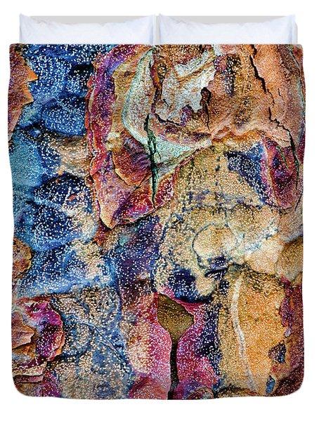 Paperbark Maple Tree Bark Colour Duvet Cover