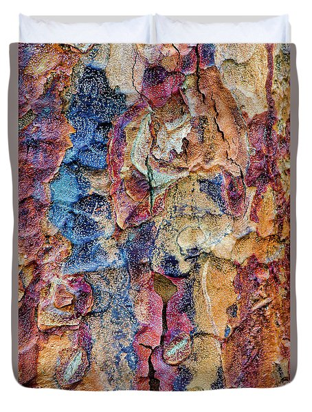 Paperbark Maple Tree Bark Colour Duvet Cover