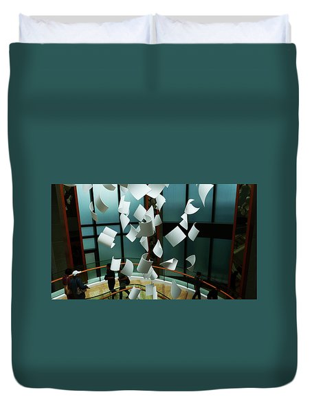 Papers Duvet Cover