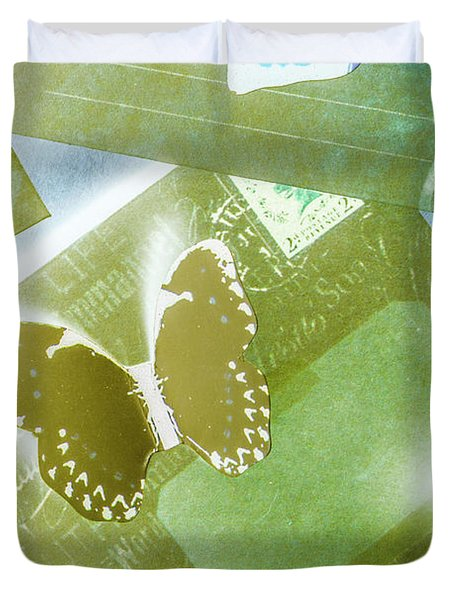 Paperwing Post Duvet Cover