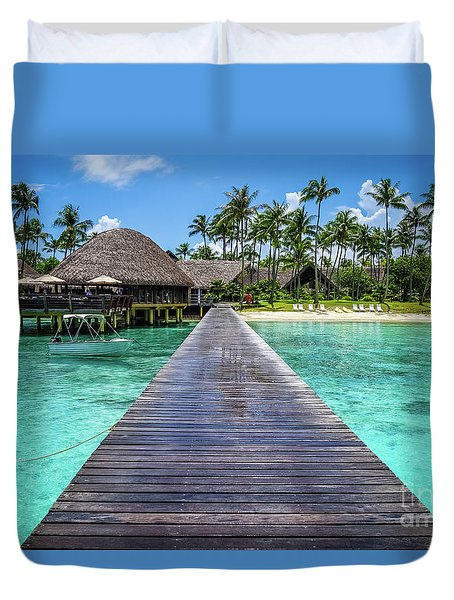 Rangiroa, Tuamotu - Paradise On Earth Duvet Cover