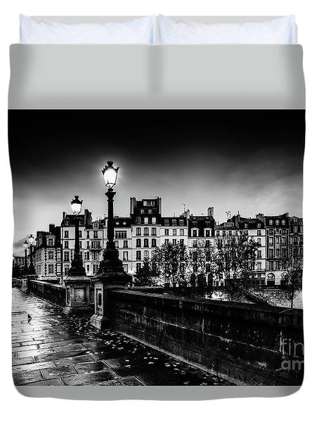 Paris At Night - Pont Neuf Duvet Cover
