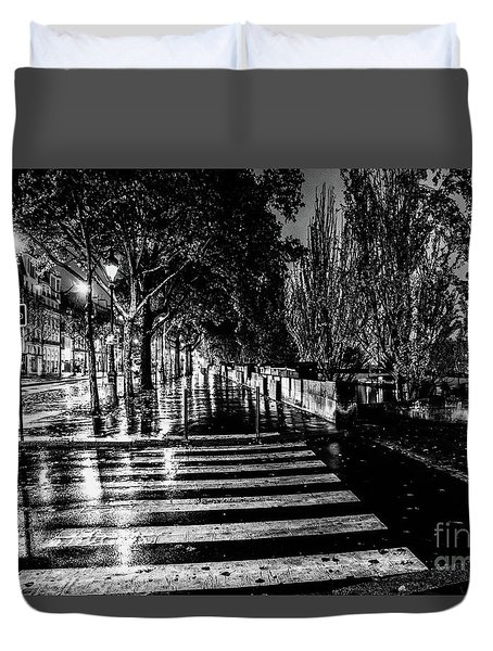 Paris At Night - Quai Voltaire Duvet Cover