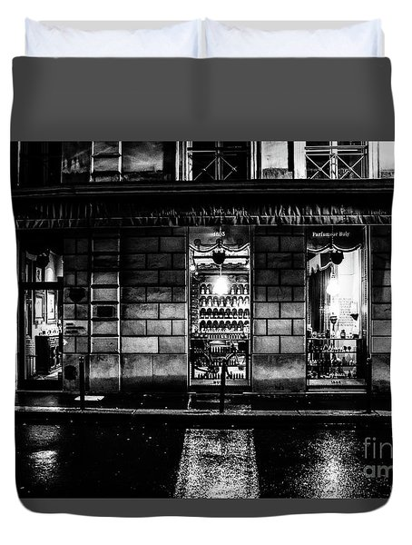 Paris At Night - Rue Bonaparte 2 Duvet Cover